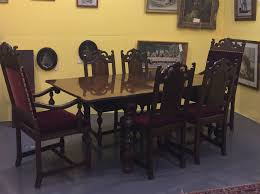 Dining Room Table And China Cabinet Antique Berkey U0026 Walnut Dining Room Set Table Chairs Buffet