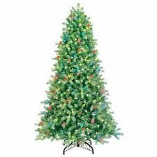 martha stewart living 7 5 ft pre lit led downswept denison spruce
