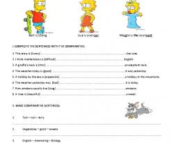 all worksheets comparatives and superlatives worksheets pdf