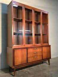 Broyhill China Cabinet Vintage Mid Century Modern China Cabinet Hutch Broyhill Emphasis Brasilia