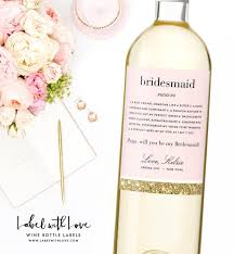 will you be my bridesmaid wine labels will you be my bridesmaid wine labels bridesmaid definition