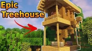 three house minecraft how to build a treehouse tutorial easy minecraft project