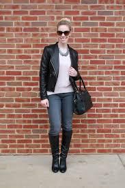leather moto jacket black u0026 blush leather moto jacket pink sweater u0026 statement