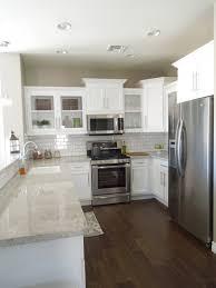 Easy Backsplash - granite countertop cabinet doors white gloss cheap easy