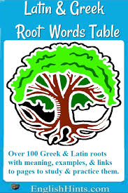 what is the latin root meaning light a table of root words from latin and greek