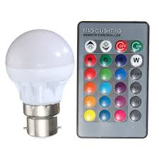 color changing light bulb with remote rgb led light bulb e27 b22 3w 16 colors changing magic l