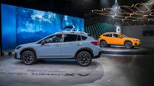 2017 subaru crosstrek green 2018 subaru crosstrek debut from the 2017 geneva motor show