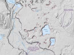 Washington State Road Map by Lidar Wa Dnr