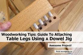 attaching legs to a table woodworking tips guide to attaching table legs using a dowel jig