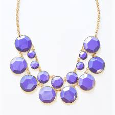 necklace chunky images Bauble box bib two tier chunky necklace with lavender resin beads jpg
