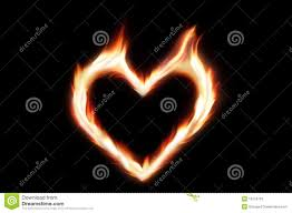 heart on fire stock photo image of isolated curved 18157170