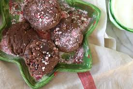 paleo double chocolate chip peppermint cookies christmas cookies