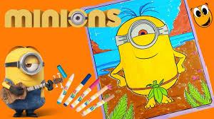 coloring stuart minions coloring book page crayola mess free magic
