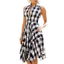 Black And White Plaid Shirt Womens Online Get Cheap Women Black And White Check Aliexpress Com