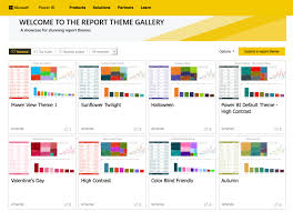 new report theme gallery launched in power bi community the fire