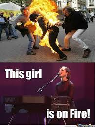 This Girl Is On Fire Meme - girl on fire by trollercoaster meme center