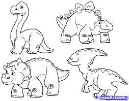 drawn dinosaur simple pencil color drawn dinosaur simple