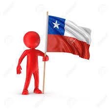 Chilian Flag Man And Chilean Flag Image With Clipping Path Stock Photo