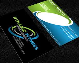 Fitness Business Card Template Business Card Template For Dynamic Fitness Solutions Print Design