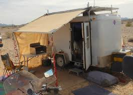 Awning For Travel Trailer Cheap Rv Living Com Survivalist Vandweller Putting Up An Awning