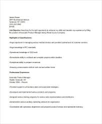 Product Manager Resumes Manager Resume Sample Templates 43 Free Word Pdf Documents