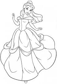 free printable belle coloring pages for kids within omeletta me