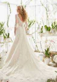 white wedding dress with gold beading lace wedding dress with appliques on style 2812 morilee