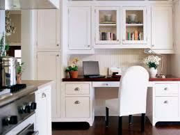 kitchen cabinet desk ideas taller cabinets on one side kitchen desk ideas kitchen