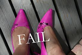 Spray Paint Your Shoes - a day in the life of one diy neon fail