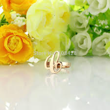 Gold Monogram Rings Compare Prices On Initial Ring Gold Online Shopping Buy Low Price