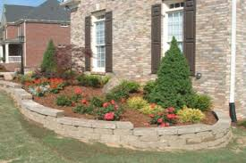 front yard landscaping ideas showing green grass with flower