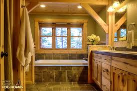 Cabin Bathrooms Ideas by Bathroom Charming Log Cabin Bathrooms Precisioncraft Home Real