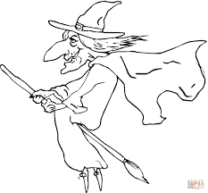 ugly old witch coloring page free printable coloring pages