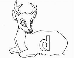 lowercase d for deer printable alphabet coloring pages alphabet
