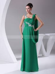 gown style dresses goddess style chiffon prom dress with applique and draping