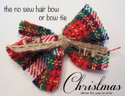 diy christmas hair bow or bow tie spoonful of imagination