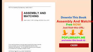 assembly and matching video dailymotion