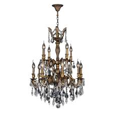 12 Light Chandeliers Worldwide Lighting Versailles 12 Light Antique Bronze And Clear