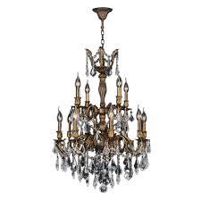versailles chandelier worldwide lighting versailles 12 light antique bronze and clear