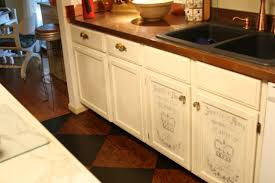 Kitchen Cabinets Redone by Kitchen Cabinet Painting Techniques Home Decorating Ideas