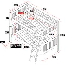 bunk bed measurements dakota bunk bed epoch design