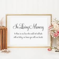 in loving memory wedding sign in loving memory archives modern pink paper