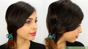 hairstyles that cover face lift scars 3 ways to cover up scars wikihow
