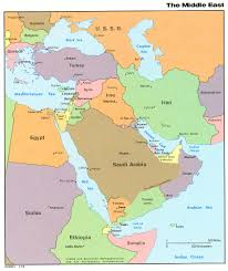 mid east map middle east political map 1976