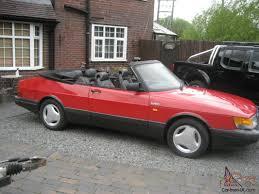 saab convertible red 1990 saab 900 turbo 16v convertible