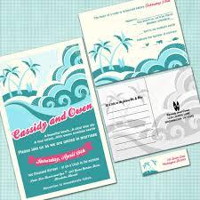 custom hawaiian wedding invitation suite beach wedding