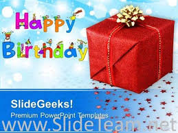 happy birthday gift background powerpoint template powerpoint template