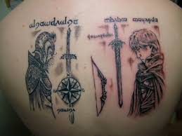 25 mystic lord of the rings tattoos