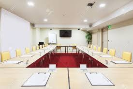 Modern Conference Room Tables by Interior Of A Modern Conference Room Tables With Built In Power