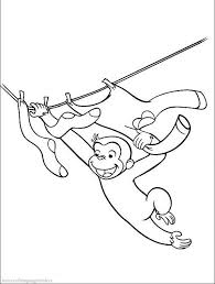george monkey playing coloring pages curious george